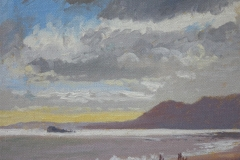 Branscombe beach - Dorset - oil